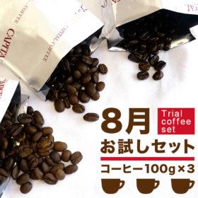 8月のお試しコーヒーセット